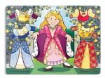 CHILDRENS CHILD MELISSA AND DOUG WOODEN PRINCESS DRESS UP MIX N MATCH PEG PUZZLE